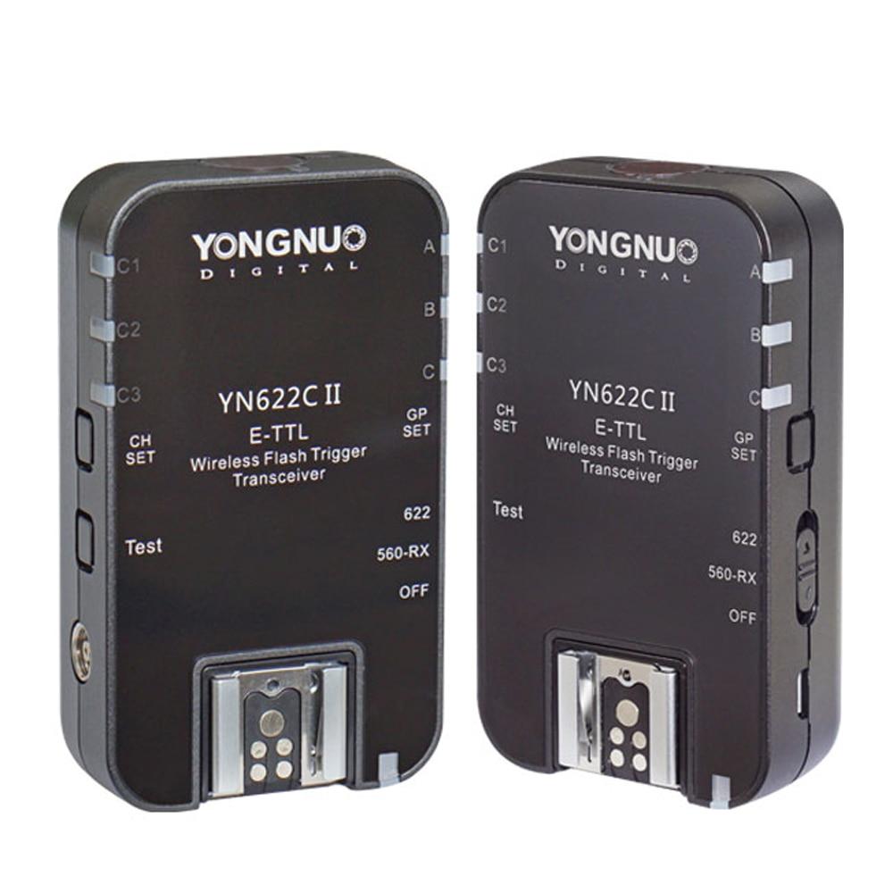 Yongnuo YN622C II YN-622CII E-TTL Wireless HSS 1/8000S Flash Trigger Transceiver For Canon 1100D 1000D 650D 600D 550D 7D 5DII yongnuo yn622c wireless e ttl 1 8000s flash trigger for canon 5d3