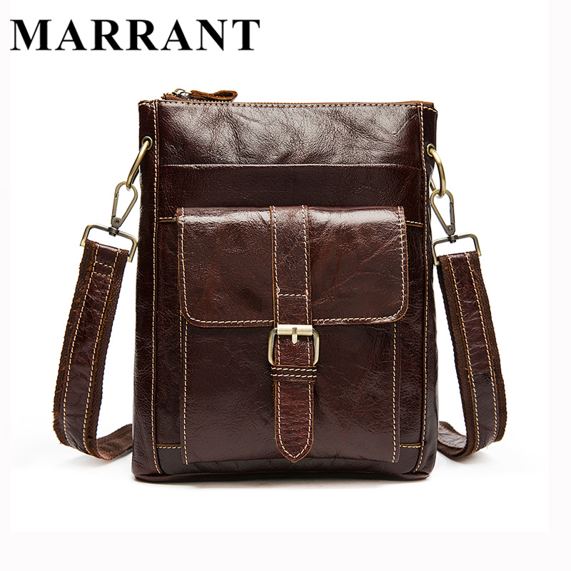 ФОТО MARRANT Men's Bag Genuine Leather Men Crossbody Bags Man Small Messenger Male Leather New Shoulder Handbag Men Mini Bag 8091