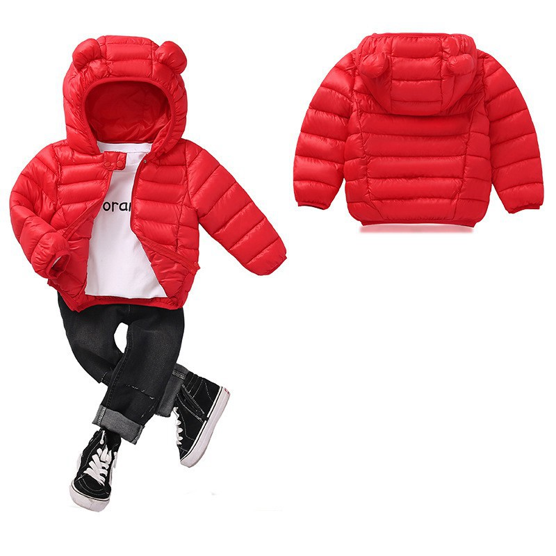 COOTELILI Cute Bear Children's Parkas Winter Jacket For Girls Boys Infant Overcoat Winter Children Coats Warm Kids Jacket Baby  (4)