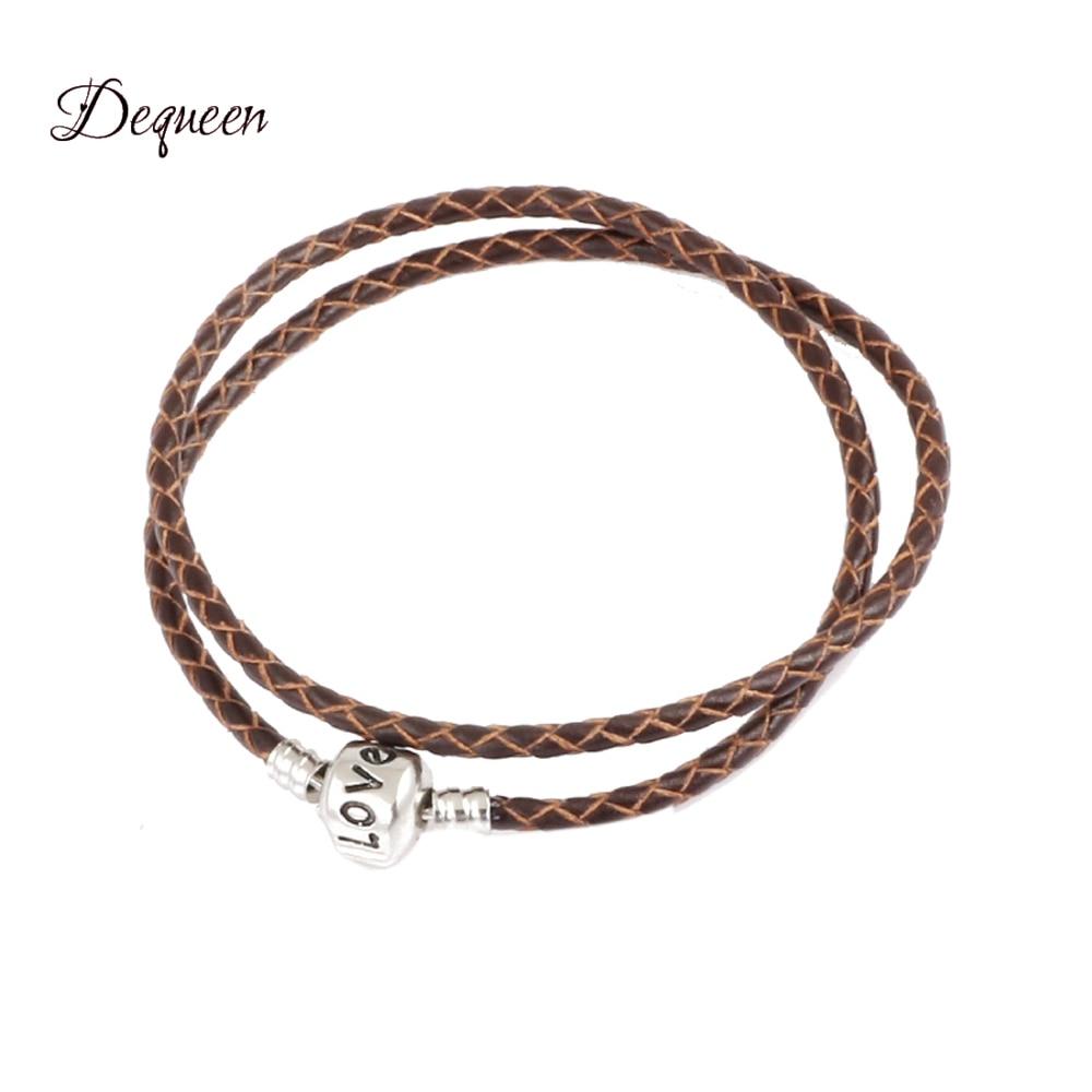 Trendy Jewelry Charm Bracelets   Bangles Leather Bracelet Making fit  Bracelet for Women Girls-in Charm Bracelets from Jewelry   Accessories on  ... 01a71fa874f6