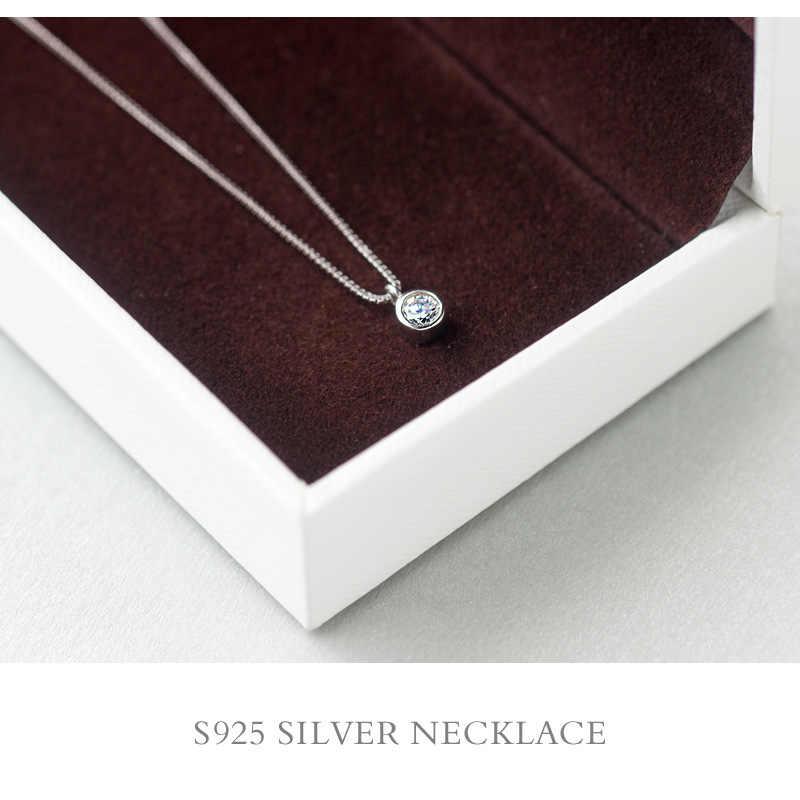 Gerçek. 925 Ayar Gümüş takı cz şanslı Soliater Yuvarlak kolye kolye Teneke/Küçük bayan GTLX1042
