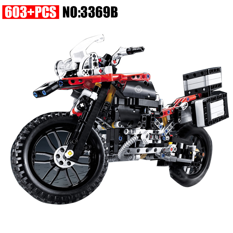 603pcs 2 In 1 Motorcycle Car building bricks blocks diy Educational toys for children Boy Game Gift 42063 yile 107 2 in 1 3353 3354 technic motorbike motorcycle car building bricks blocks toys for children boy game bela 8051