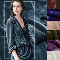 110CM Wide Solid Color Silk and Cotton Velvet Warm Fabric for Autumn and Winter Dress Coat Jacket 17Colors Available E205