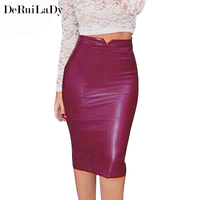 YI NOKI Autumn Winter Womens Skirt New Fashion Suede Leather Skirts Women Lace Hollow Vintage Mini