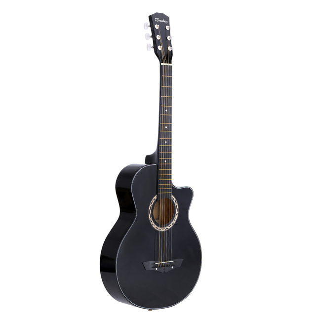"High Quality 38"" Guitar Guitarra 38"" Acoustic Folk Guitar Durbale 6-String Basswood Guitar Black Blue Red Purple for Option"