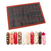 Silicone Mat 18 44 Eclair Pastry Non Stick Liner Perforated Macaron Cookie Tart Bread Mold For