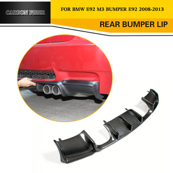 For M3 Carbon Fiber Rear Bumper Lip Diffuser Protecter for BMW E92 M3 Coupe E93 M3 Cabriolet 09 - 12 ( Not Fit E90 4DR ) image