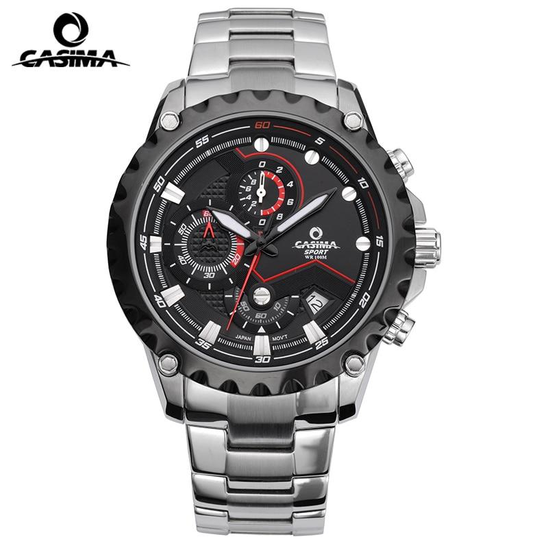 CASIMA Watch Men 100M Waterproof Charm Luminous Military Army Chronograph Sport Quartz Wrist Watch Clock Saat Relogio Masculino цена и фото