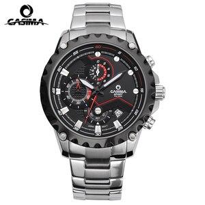 Image 2 - Relogio Masculino CASIMA Chronograph zegarek sportowy mężczyźni 100M wodoodporny urok Luminous wojskowy armia kwarcowy zegarek na rękę zegar Saat