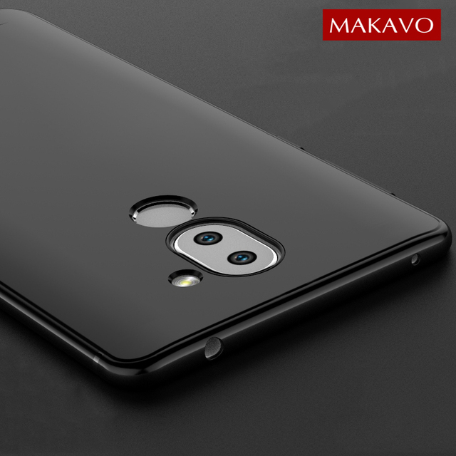 MAKAVO For Huawei Honor 6X Case Soft Silicone Slim Matte Cover For...