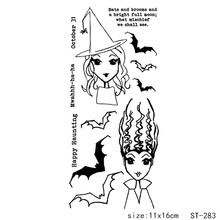 AZSG Happy Halloween Vampire Death Ghost Clear Stamps For DIY Scrapbooking/Card Making/Album Decorative Silicon Stamp Crafts