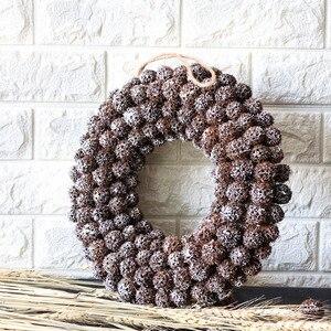 Image 4 - Navidad 2018 Natural Christmas Wreath Handmade Craft Door Wreaths Snow Christmas Decorations for Home halloween Party Wreath