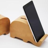 Holz Münze Geld Bank Einzigartige Kinder Geschenke Moeny Box Sparschwein Transparent Sparen Topf mit Kfz-halter Unterstützung Funktion Artware