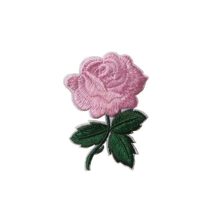 VIPOINT embroidery rose patches flower patches badges applique patches for clothing ST 2 in Patches from Home Garden