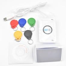 Original USB ACR122U NFC RFID Smart Card Reader Writer  + 5 pcs UID Cards +5pcs UID Tags+ SDK + M ifare Copy Clone Software