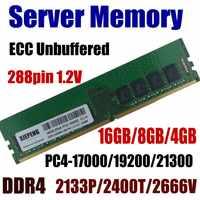 Estación de trabajo RAM, 16GB, PC4-21300, 2666MHz, ECC, sin pulir, 8GB, DDR4, 2400, 19200, 4GB, 17200, 2133 MHz, 288pin, 1,2 V, memoria de servidor