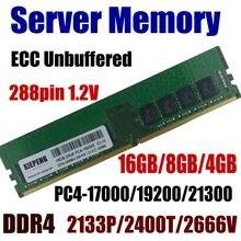Iş istasyonu RAM 16GB PC4-21300 2666MHz ECC 8GB DDR4 2400 19200 4GB 17200 2133 MHz 288pin 1.2V sunucu bellek