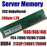 Workstation RAM 16GB PC4 21300 2666MHz ECC Unbuffered 8GB DDR4 2400 PC4 19200 4GB 17200 2133 MHz 288pin 1.2V Server Memory