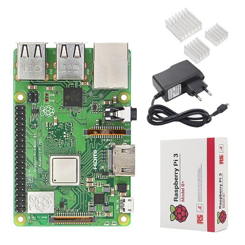 Original Raspberry Pi 3 Modèle B + Plus ROYAUME-UNI Fait Kit + 3.5 pouce Écran Tactile + Cas + Puissance + 32 gb SD + HDMI + Radiateur + USB Câble - 4