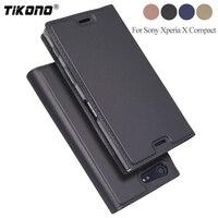 TIKONO For Sony Xperia X Compact Case Luxury Flip PU Leather Case For Sony Xperia X