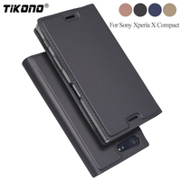 TIKONO For Sony Xperia X Compact Case Luxury Flip PU Leather Case For Sony Xperia X