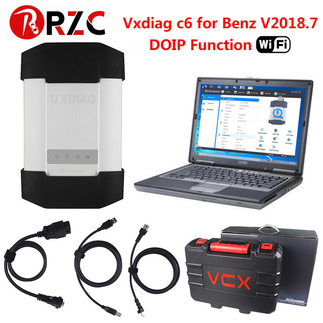 VXDIAG C6 Diagnostic Tool Powerful With Wireless For Mercedes Benz STAR C4 Scanners Truck VXC PLUS DOIP Audio with d630 EVG7