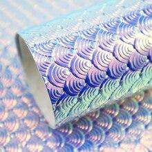 30*140 см Bump текстура рыбья весы искусственная кожа лист, материалы для ручных поделок для волос лук-узел сумки, 1Yc4333