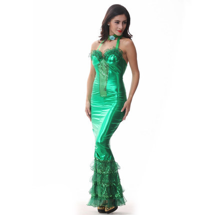 free shipping sequins imitation leather sexy mermaid costume clothes game uniform mermaid dress up halloween costumes - Free Halloween Dress Up Games