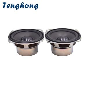 Image 1 - Tenghong 2pcs 3Inch Full Frequency Speakers 4Ohm 5W Audio Speaker Horn For Satellite Speaker Unit DIY Loudspeaker Home Theater