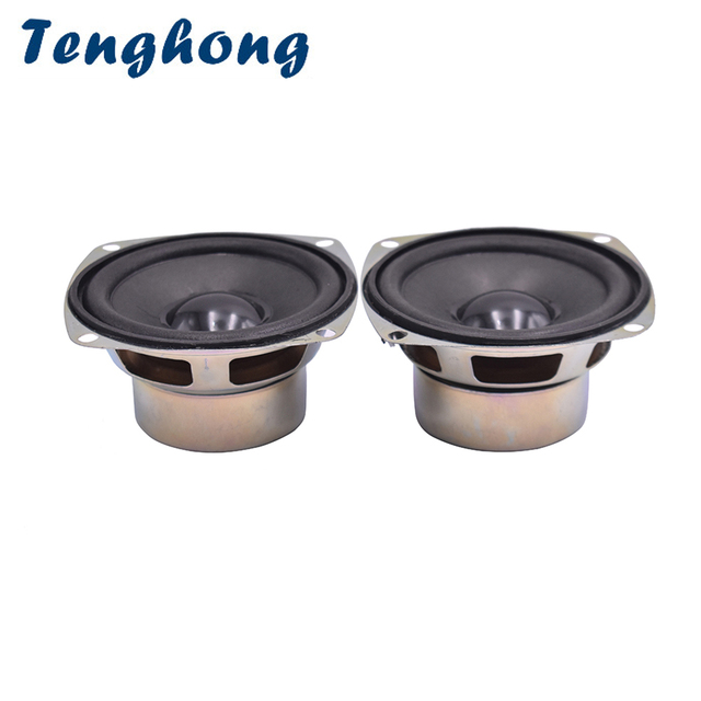 Tenghong 2pcs 3Inch Full Frequency Speakers 4Ohm 5W Audio Speaker Horn For Satellite Speaker Unit DIY Loudspeaker Home Theater