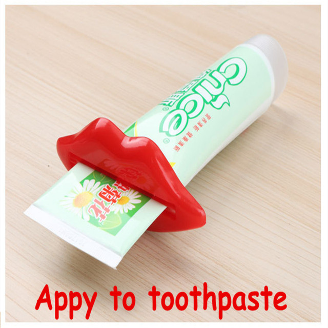 1 PCS Creative Lip Toothpaste squeeze multi-purpose extrusion device Toothpaste gels cream lotion squeezer #708 3
