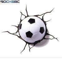 BOCHSBC Football Dream Wall Light 2018 New Basketball Led Lamp for Bedroom Living Room Weltmeisterschaft Brazil Football Lamps