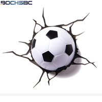 BOCHSBC Football Dream Wall Light 2018 New Basketball Led Lamp for Bedroom Living Room Weltmeisterschaft Brazil Football Lamps