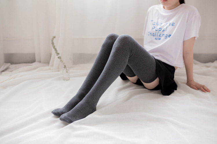 Fashion Women Cotton Over The Knee Socks Thigh High Stockings   Long Sock