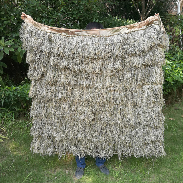 Poncho style Hay grass style desert Bionic Ghillie Suits Hunting Blind Tent camouflage coverUse & Poncho style Hay grass style desert Bionic Ghillie Suits Hunting ...