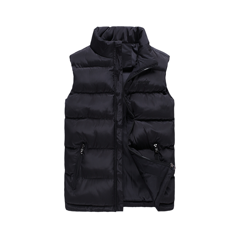2019 NEW Men Vest Winter Jackets Fashion Casual Sleeveless Coat Thick Warm Zipper Jacket Outerwear Cotton-Padded Waistcoat