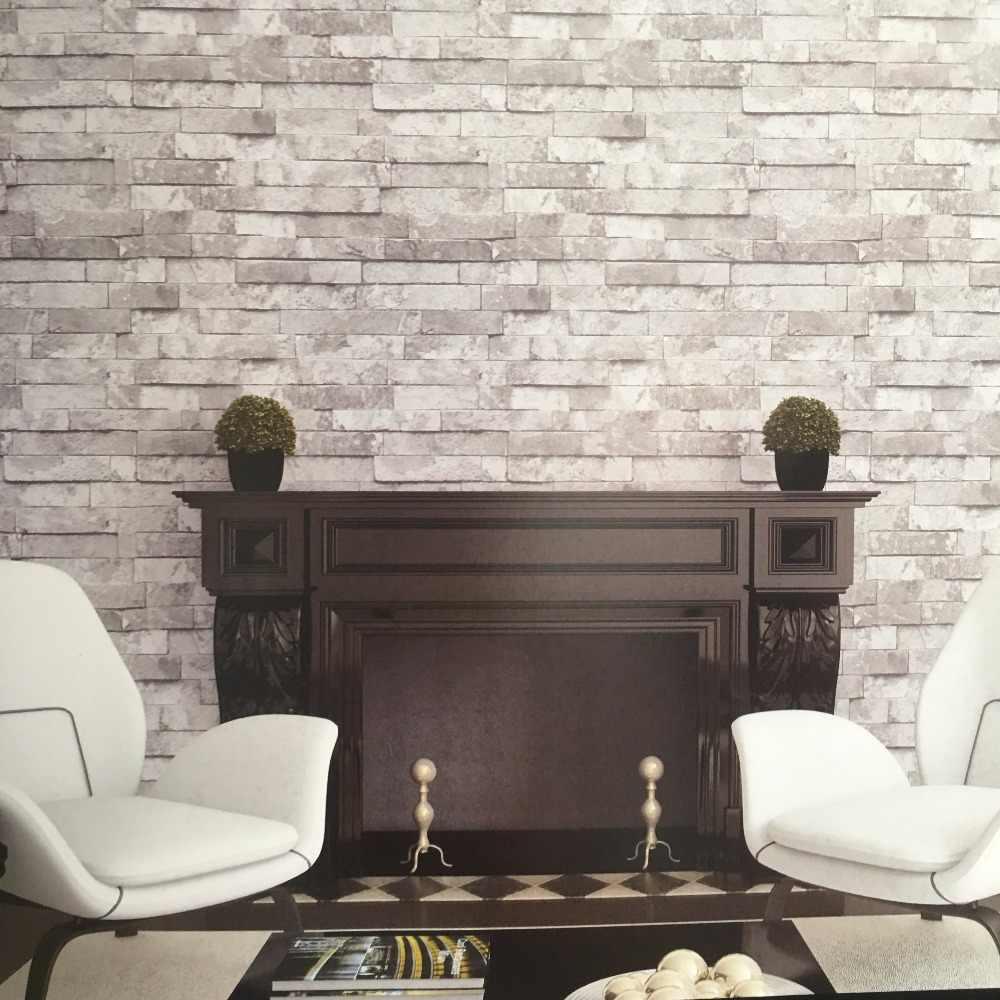 Bacazエクスフォリエーター質感ブロック3dレンガ壁紙用レストランカフェソファ背景の装飾3dレンガの壁紙3d壁装材 壁紙 Aliexpress
