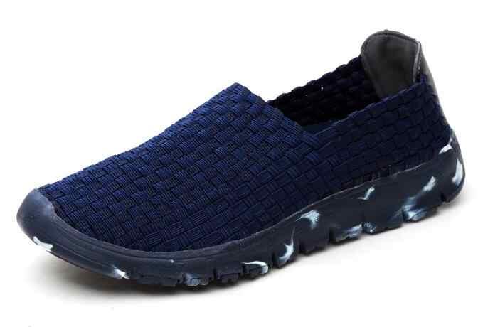 Новинка 2019 г. весенне-летняя повседневная обувь для женщин на плоской мягкой подошве, кроссовки дышащие сетчатые, Женская плетеная обувь