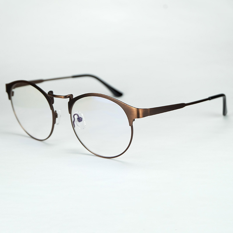 2017 New Vintage Style Full Metal Oval Rim Optical Glasses -5579