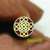 8mm cabo da Faca parafuso rebite Mosaico Pin tubo de Aço tubo de bronze Flor unhas rebite cheio red resina|Facas| |  -