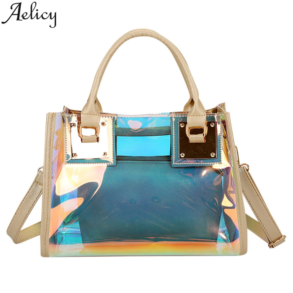 Aelicy Luxury womens Bag Transparent Ladies Fashion New multi-function Color Handbag Shoulder Bags Transparent Women PocketAelicy Luxury womens Bag Transparent Ladies Fashion New multi-function Color Handbag Shoulder Bags Transparent Women Pocket