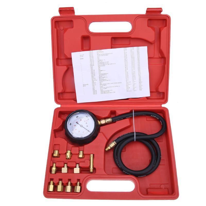 1Set Max. 500psi Pressure Gauge Motor Auto Petrol Gas Engine Cylinder Compression Gauge Tester Tool Car Diagnostic Tools