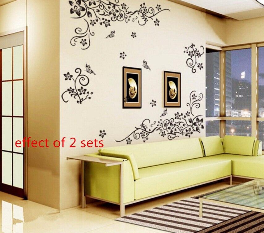 Hot DIY Wall Art Decal Decoration Fashion Romantic Flower 3D ...
