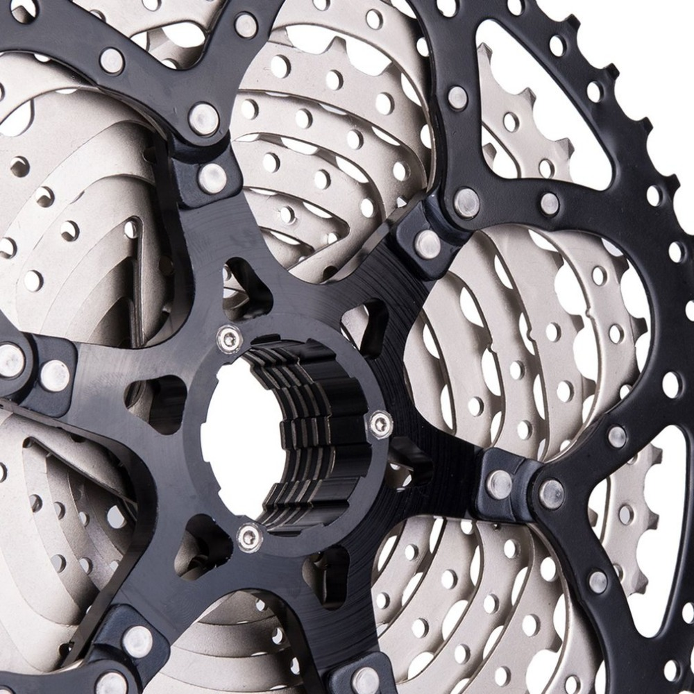 ZTTO 11 vitesses Cassette 11-50 T Compatible vélo de route système Sram haute résistance en acier pignons pliant noir argent engrenage - 6