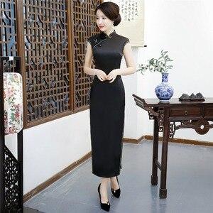 Image 5 - Shanghai Storia Cinese qipao Cheongsam Sexy abiti Abito Da Sera Lungo abito retrò per le donne