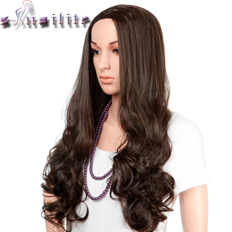 S-noilite 100% Natural & Thick 300g 25 inches Wigs Curly Fancy Dress Cosplay Party Women Ladies Hair Wig Synthetic