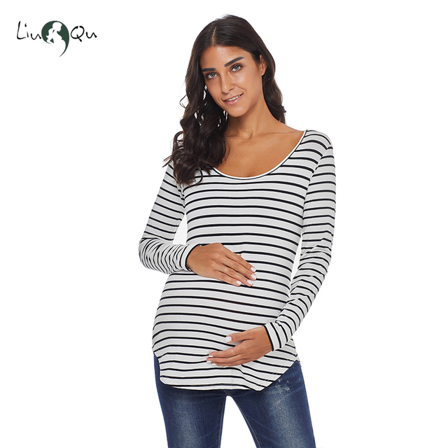 Pack of 3pcs Striped Pregnancy Tops Mama Maternity Clothes Blouse Ropa Mujer Womens Clothing Plus Size Loose Premaman Women Tops 4