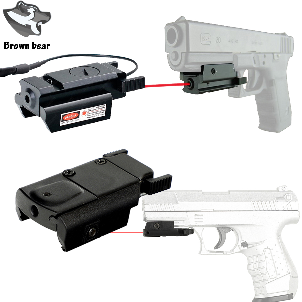 With Picatinny Rail Mount Red Dot Laser Sight Scope Laser for Tactical Pistol Gl 17 19 20 21 22 23 30 31 40 45 9mm XDM XD image