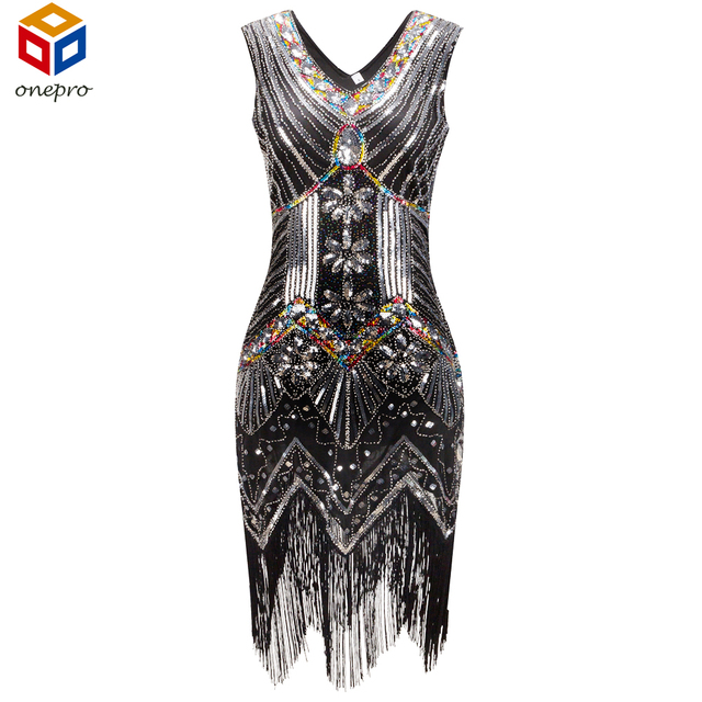 1920 s Великий Гэтсби Dress Sequin Бисероплетение Глубокий V Шеи Бахромой Хлопушки Dress Black Party Lady Dress Для Женщин Femme