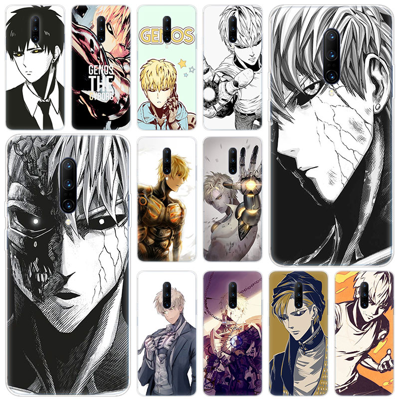 Hot Genos one punch man Soft Silicone Fashion Transparent Case For font b OnePlus b font